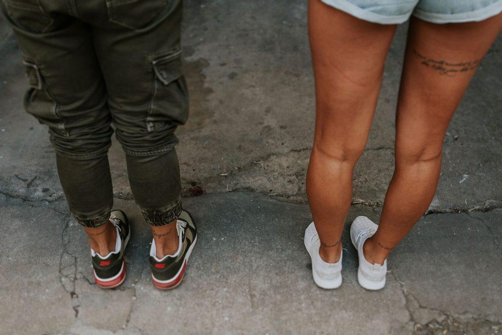 sesión de pareja urbana